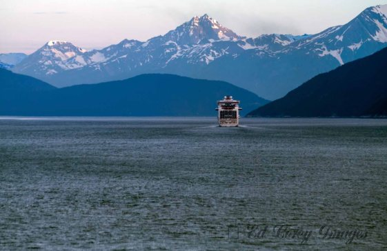 Evening Departure from Skageway Alaska