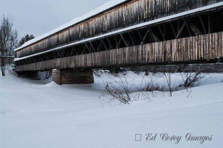 Covered Bridge in the winter