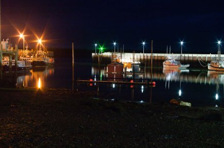 Night View of Ingalls Head Harbour